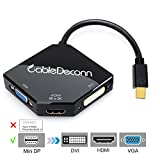 CableDeconn The Cobra Appearance Multi-Function Thunderbolt Mini DisplayPort DP To HDMI VGA DVI Kabel Konverter Adapter For MacBook Pro Air